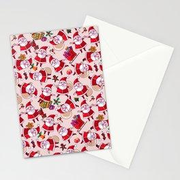 Santa Gift Pattern Stationery Cards