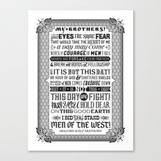 Men of the West Speech Poster Canvas Print