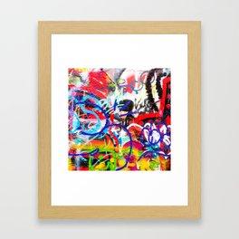 Crazy Graffiti  Framed Art Print