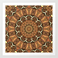 Molten Copper Mandala Art Print