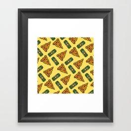 Pizza & Beer Love Framed Art Print