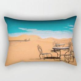 garden furniture in desert Rectangular Pillow