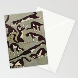 Edited magazine cover - The Lone hand - 1909 Cat Playing With Mouse Vintage Pattern Stationery Cards