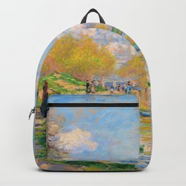 Claude Monet - Spring by the Seine - Digital Remastered Edition Backpack
