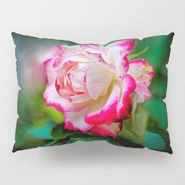 White Red Rose Pillow Sham