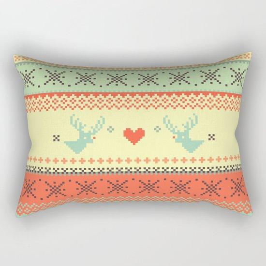 Holiday Pixels Rectangular Pillow