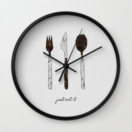 Just Eat It Wall Clock