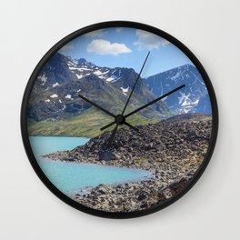 Alaska Glacial Lake Wall Clock
