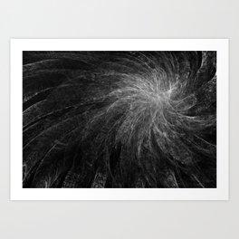 B&W Organic Spiral Art Print
