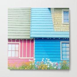 colorful houses Metal Print