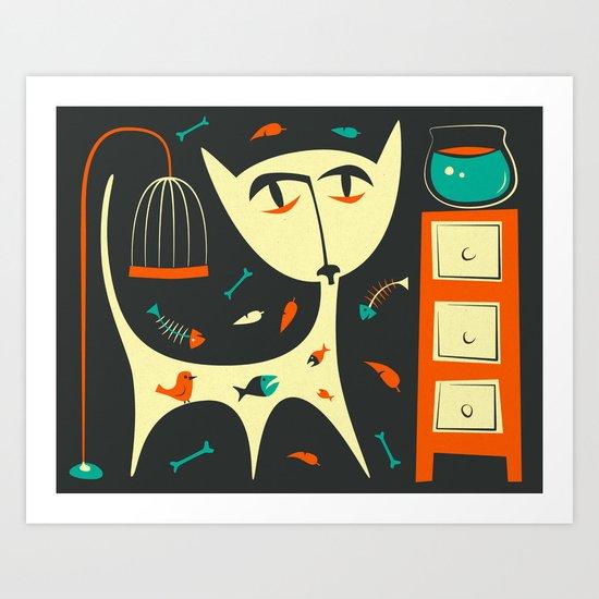 BAD CAT Art Print