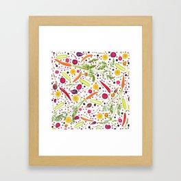 Fruits and vegetables pattern (21) Framed Art Print