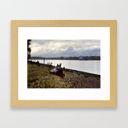 Heading North on the Columbia River Framed Art Print