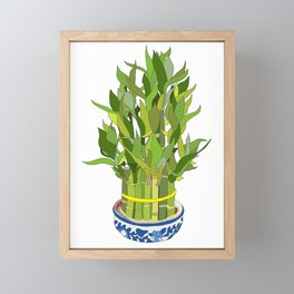 Lucky Bamboo in Porcelain Bowl Framed Mini Art Print