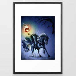 The Horseman Cometh Framed Art Print