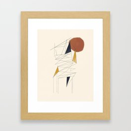 shapes and lines Framed Art Print
