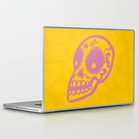 sugar skulls Laptop & iPad Skins featuring Sugar Skulls by Rhys Prosser