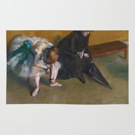 Edgar Degas - Waiting Rug