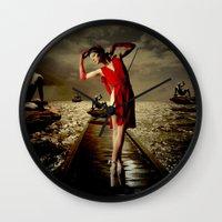 siren Wall Clocks featuring Siren by Galen Valle