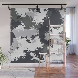 Camouflage snow 1 Wall Mural