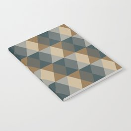 Caffeination Geometric Hexagonal Repeat Pattern Notebook