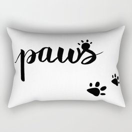 Paws for Animal Lovers Cat Lover Gift Dog Lover Gift Puppy Lovers Kitty Lovers Rectangular Pillow