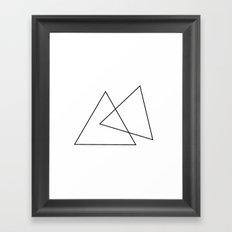 Double Triangles Framed Art Print