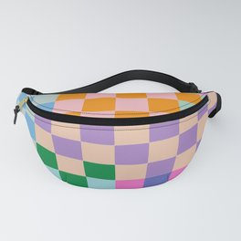 Checkerboard Collage Fanny Pack