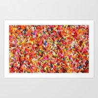 sprinkles Art Prints featuring Sprinkles! by MartiniWithATwist