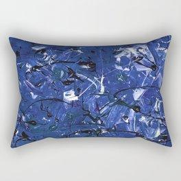 Abstract #350 Blue Chaos Rectangular Pillow