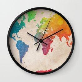 world map 21 #map #maps #world Wall Clock
