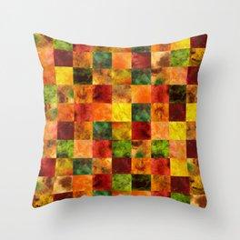 Autumn Leaves Digital Quilt Throw Pillow