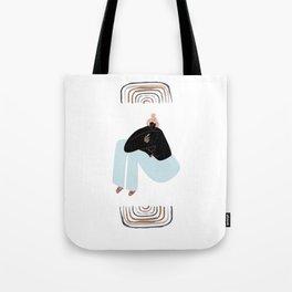 Rainbow Girl Tote Bag