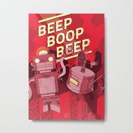 Beep Boop Beep Metal Print