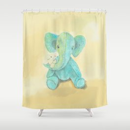 Cute elephant and mouse Shower Curtain