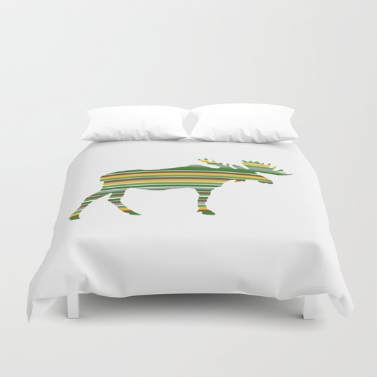 Moose - Forest Colors Duvet Cover