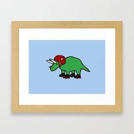 Roller Derby Triceratops Framed Art Print