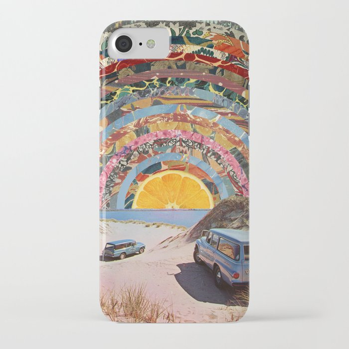 orange sunset iphone case