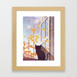 The Last Autumn Leaves Framed Art Print