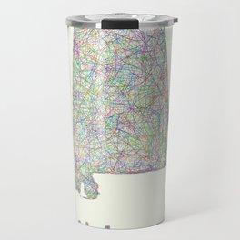 Alabama map Travel Mug