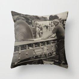 Rack Bench  Throw Pillow