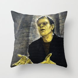 Frankenstein: LIGHT Throw Pillow