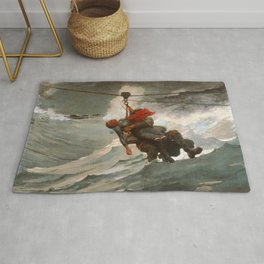 The Life Line by Winslow Homer, 1884 Rug