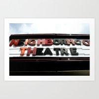 theatre Art Prints featuring Theatre by Caitlin Victoria Parker