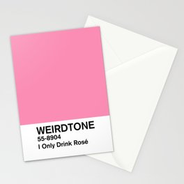 I Only Drink Rosé Stationery Cards