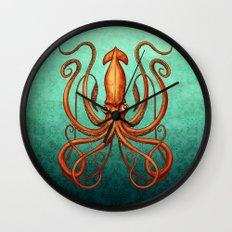 Giant Squid 2 Wall Clock