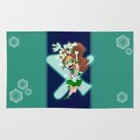 sailor jupiter Area & Throw Rugs featuring Sailor Jupiter by Eileen Marie