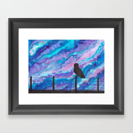 Galaxy Owl Framed Art Print