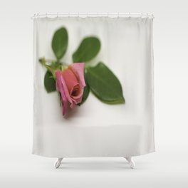 Solitairy Rose Shower Curtain