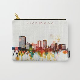 Watercolor Richmond Virginia Skyline Carry-All Pouch